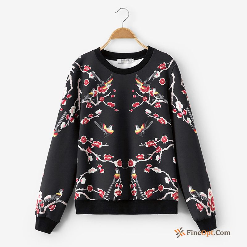 Pullovers Printing Splicing Spring Flower Hoodies Hoodies For Sale