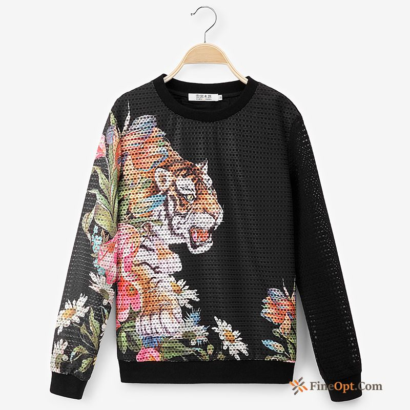 Pullovers Spring Autumn Hoodies Fashion Printing Tiger Hoodies Online