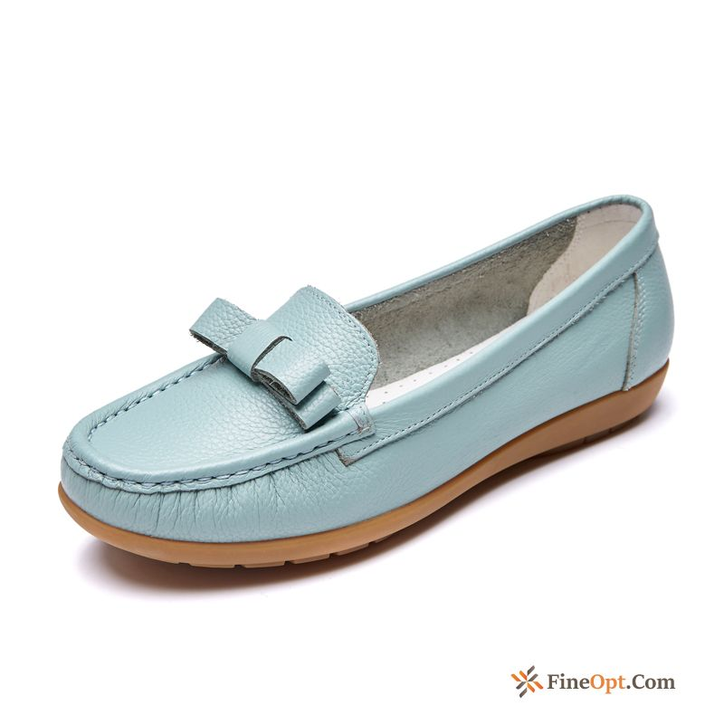 Pumps Flat Bow Loafers Comfortable Simple Fashion For Sale