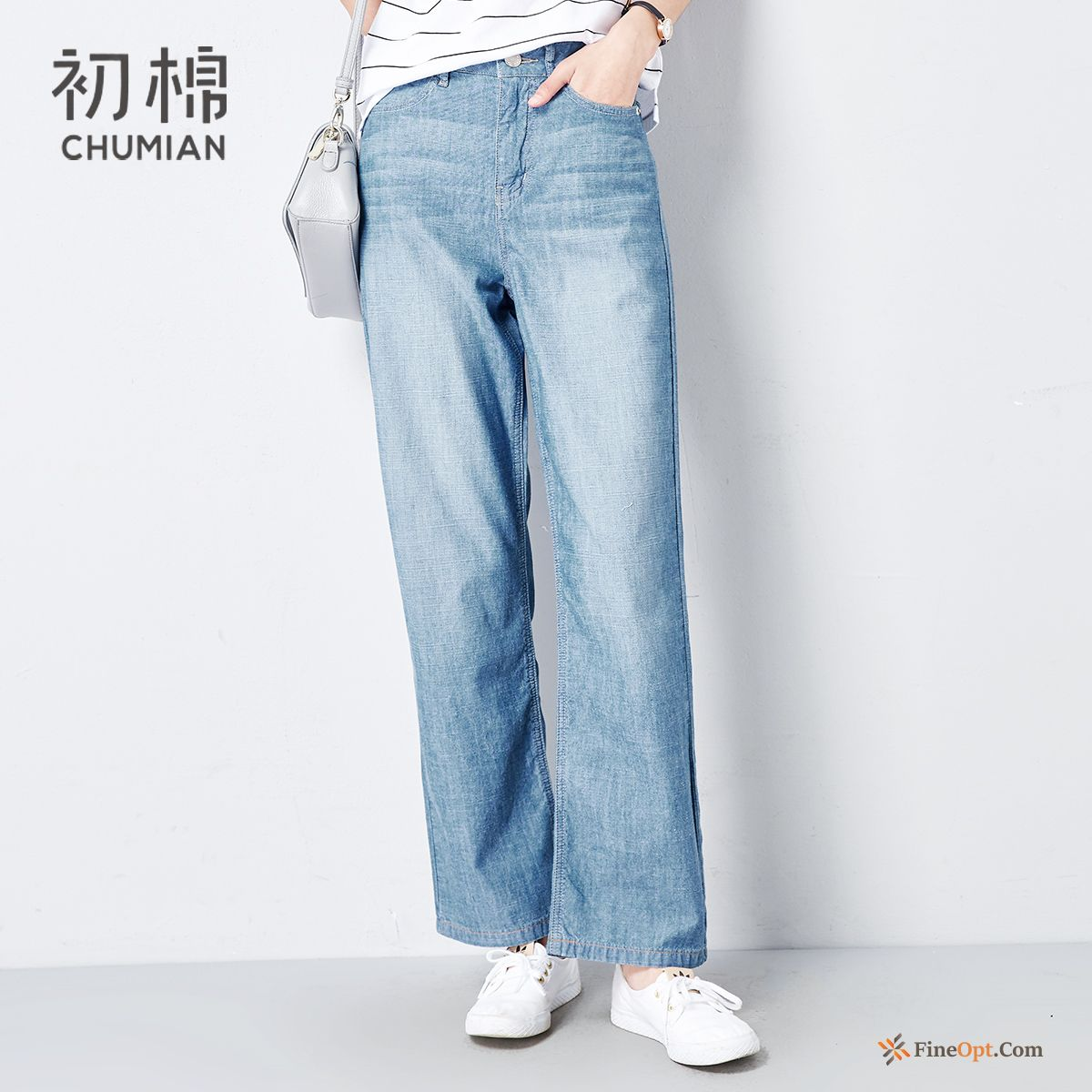 Pure Trousers Jeans Black Spring Cotton Peony