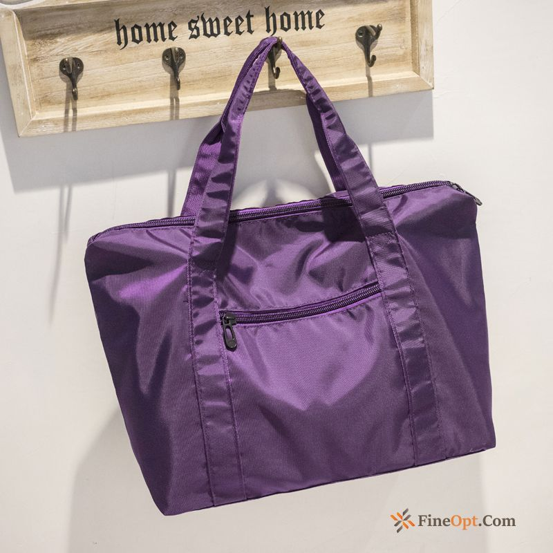 Purple Simple Black Women Light Leisure High Capacity Travel Bag