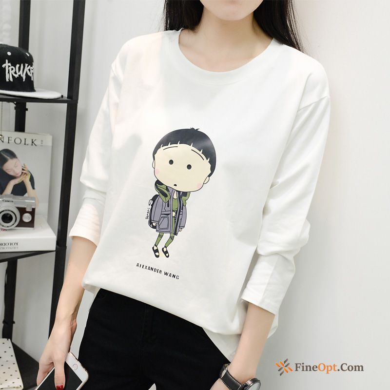 Round Neck Junior Spring T-shirt Bottoming Shirt Trend Europe T-shirts