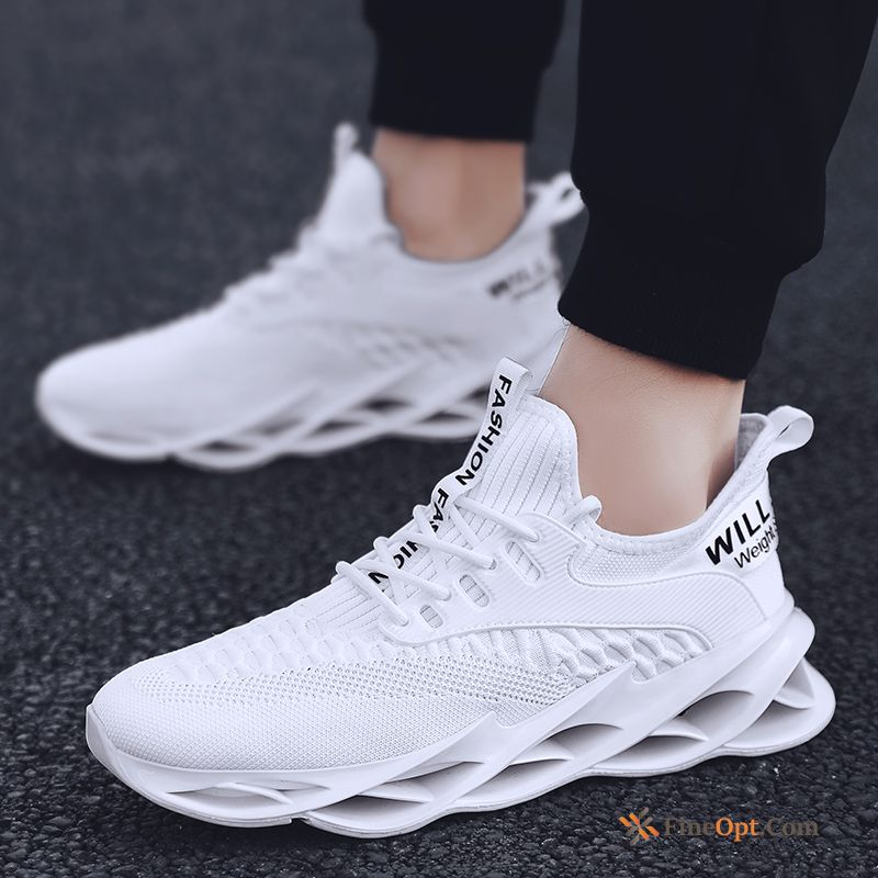 Running Trend New Men's White Red Casual Running Shoes