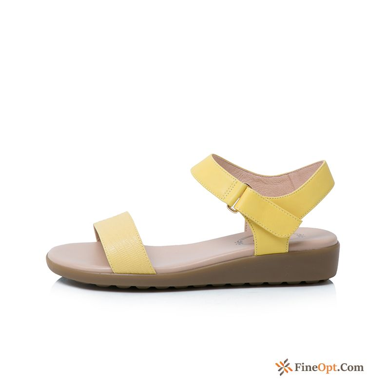 Sandals Leather Simple Summer Leather Comfortable New Sandals