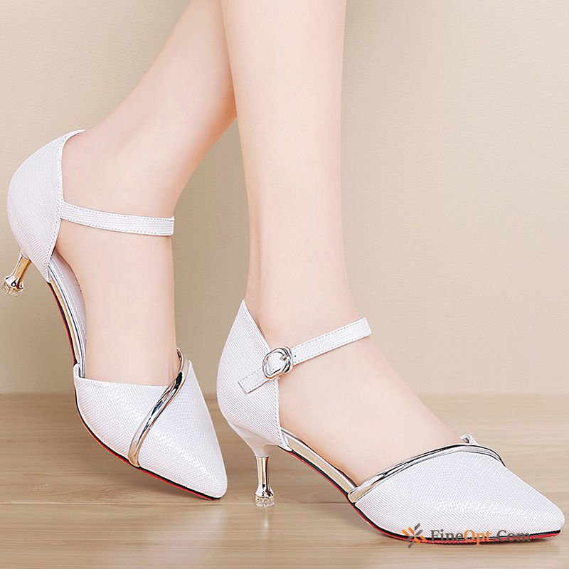Sandals New Mid Heel Thin Heels Summer Spring Trend Sandals