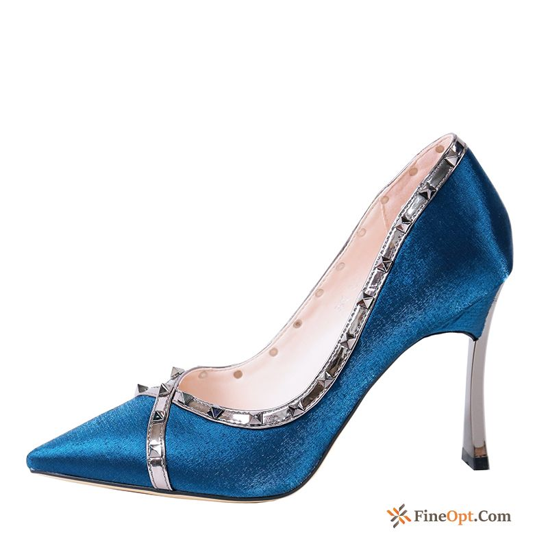 Sexy Blue Elegant Spring Fashion High Heels Pointed Toe Breen Pumps