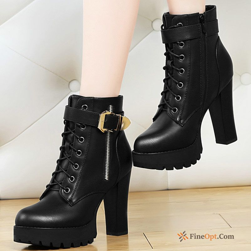 Short Boots Autumn Martin Boots Boots Thick High Heels Winter