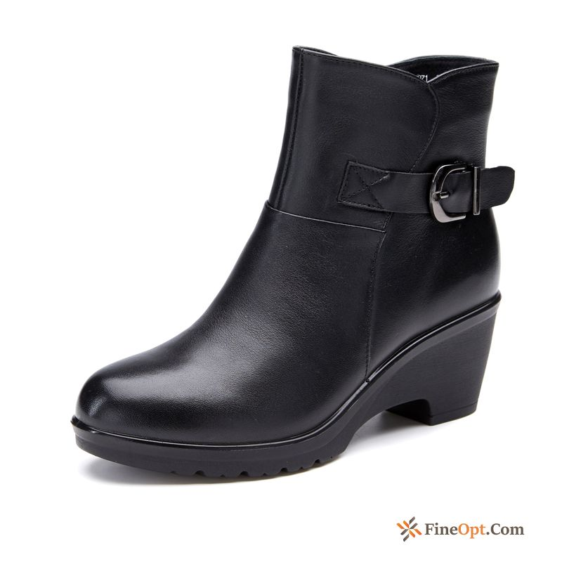 Short Boots Fashion Boots Autumn Trend Thick New Dull Black Sale