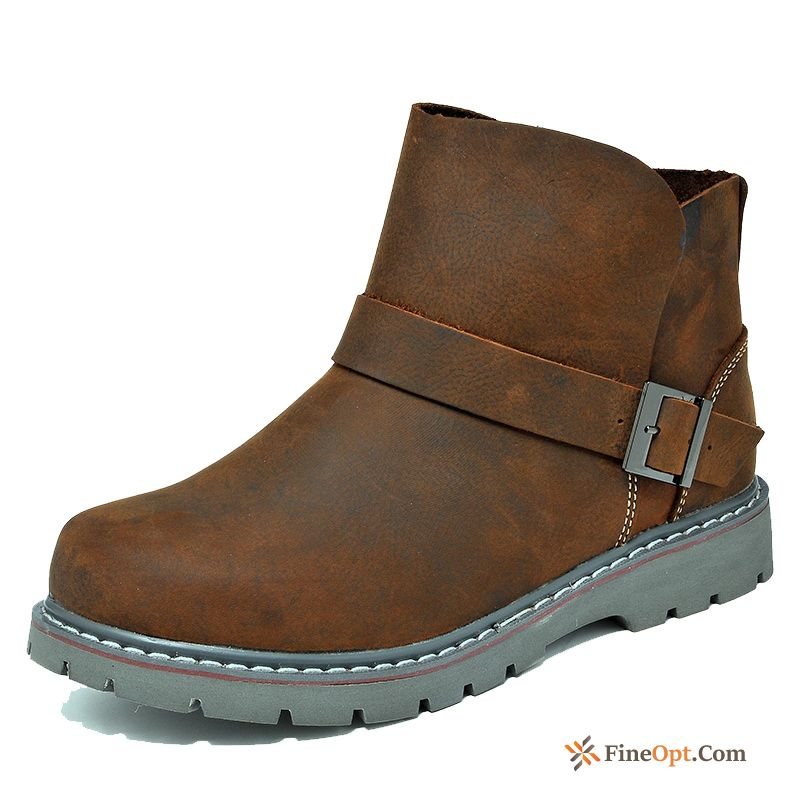 Short Boots Sleeve Genuine Leather Outdoor Trend Boots British