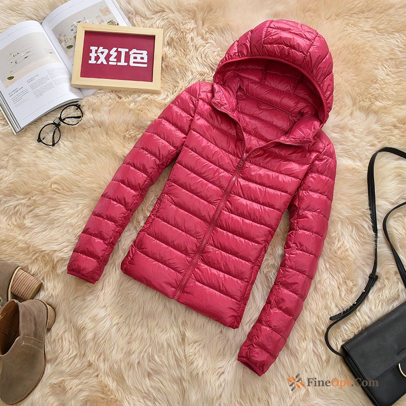 Short Outdoor New Hooded Coat Light Large Size Down Jacket Discount