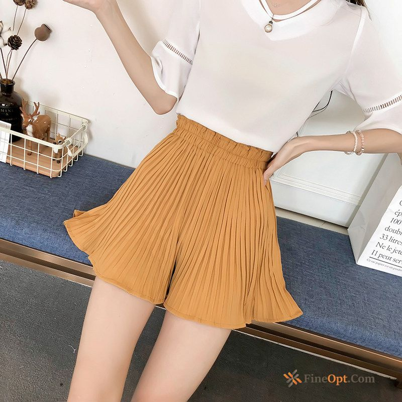 Short Pants Student Pleated High Waist New Summer Europe Shorts Discount