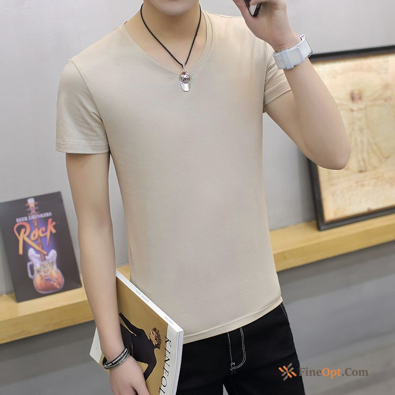 Shorts Men's V-neck Summer Leisure T-shirt Half Sleeve T-shirts