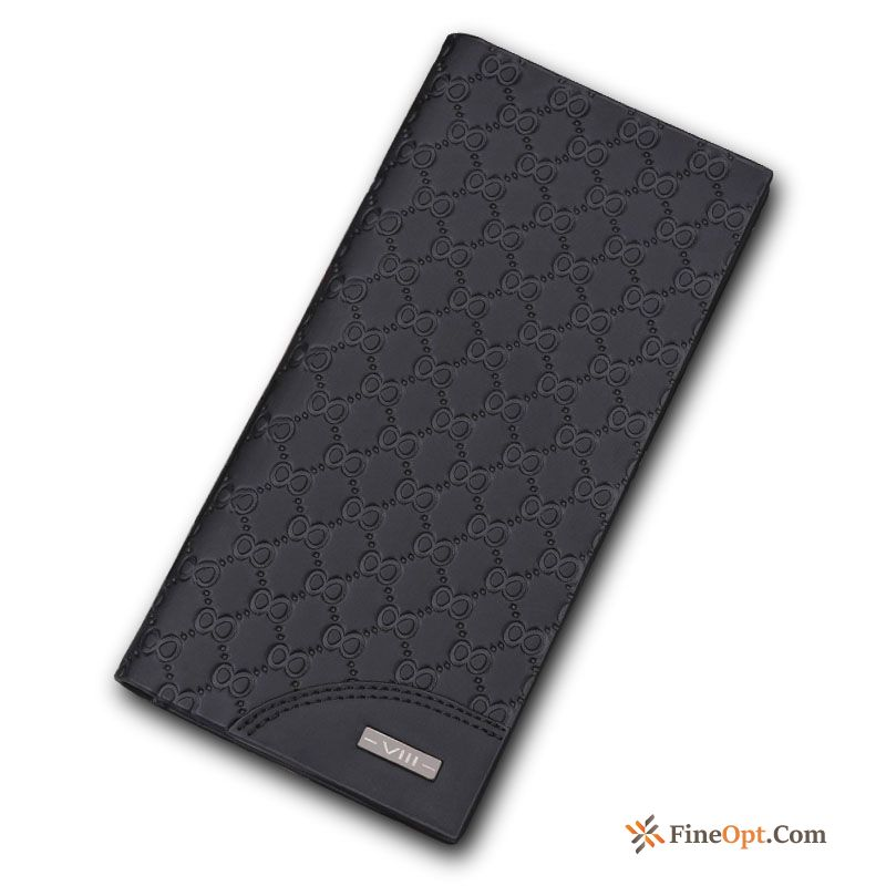 Simple Men's Long Section Soft Skin Student Youth Wallets Sale
