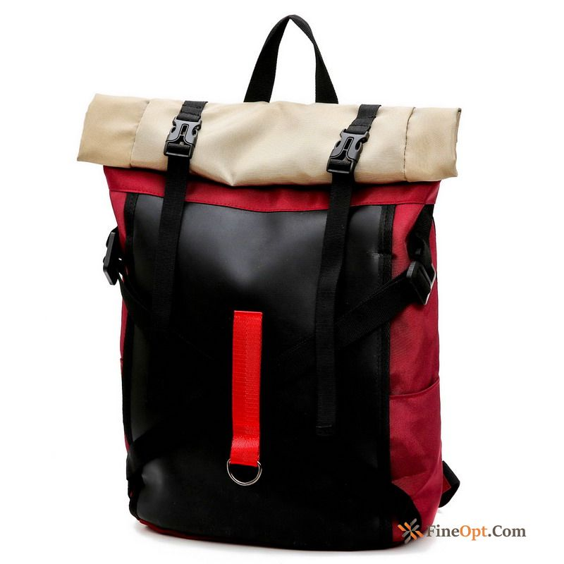 Simple Red All-match Backpack Travel Bag Women Student Ocean Blue Travel Bag