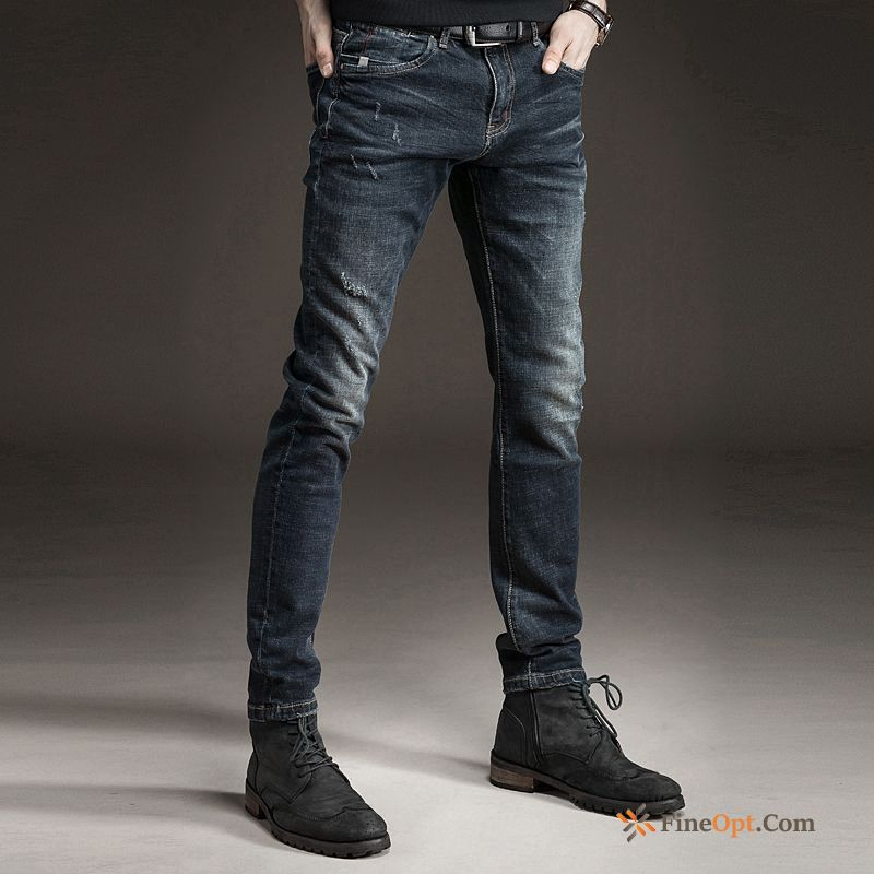 Skinny Trousers Europe Autumn Pants Slim Spring Jeans