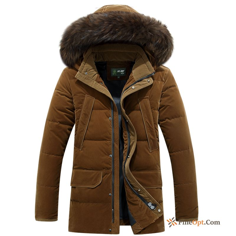 Slim Down Jacket Trend Long Europe Winter Clothes Thickening