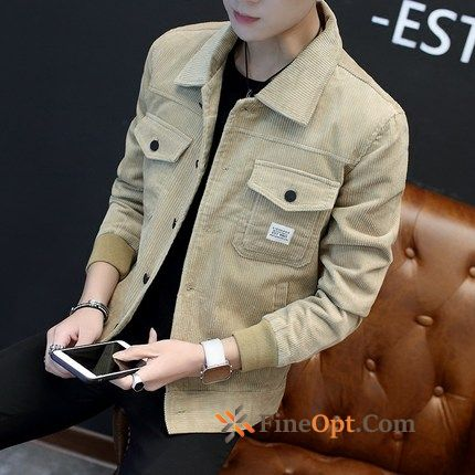 Slim Lapel Coat Men's Europe Youth Jacket Jacket
