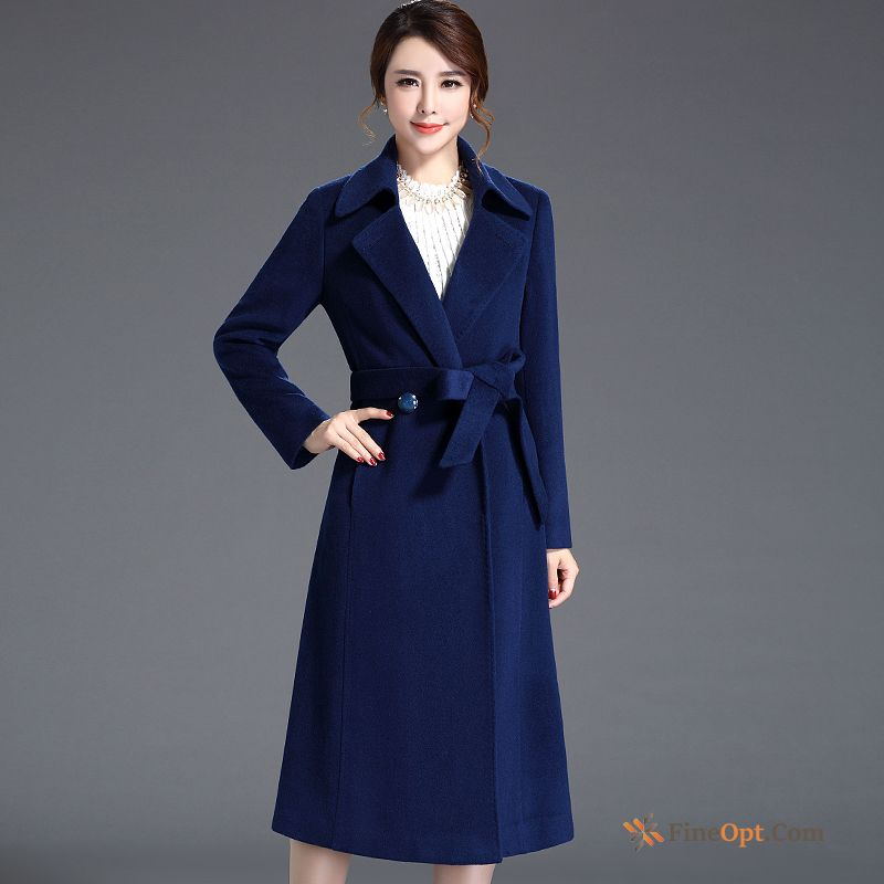 Slim Overcoat Elegant New Chalaza Europe Wool Coat
