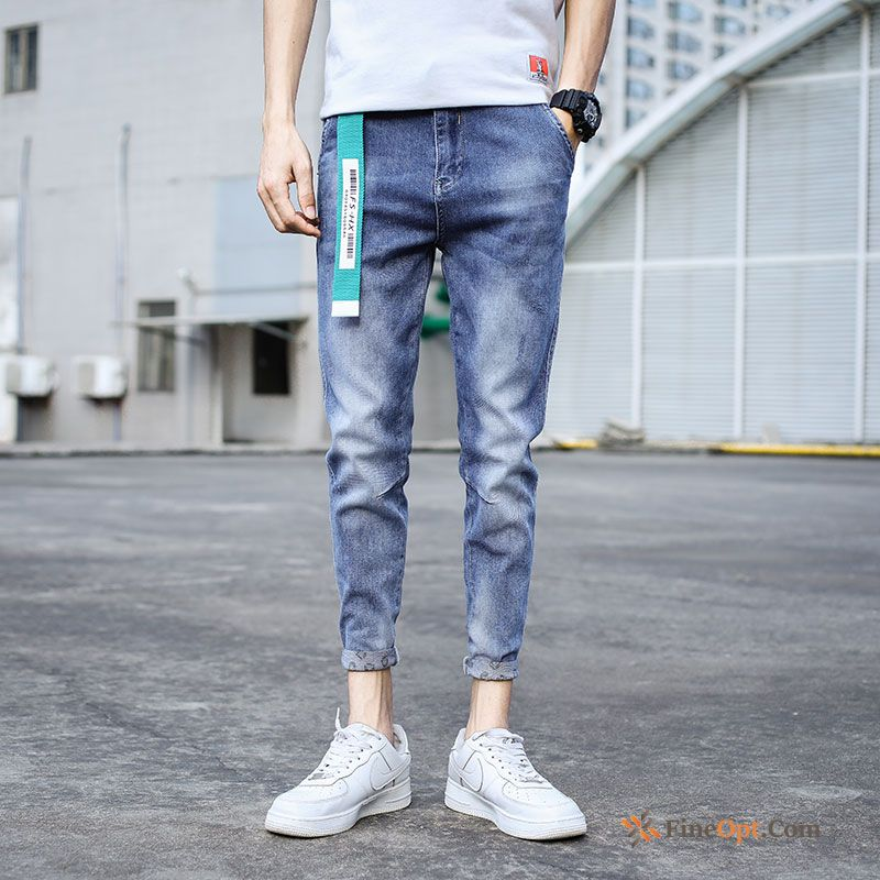 Slim Pants Trend Brand Light Europe Spring Leisure Jeans For Sale
