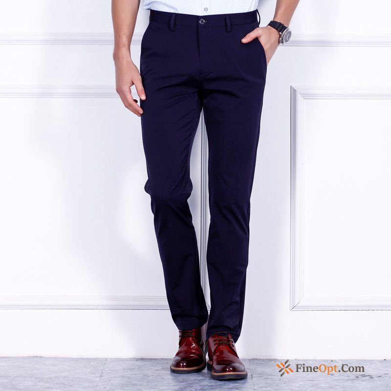 Slim Straight Pants Leisure New Men's All-match Ultramarine Pants Sale