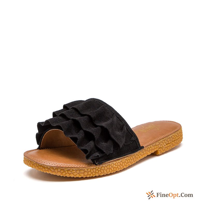 Slippers New Black Summer Outwear Sweet Slippers For Sale