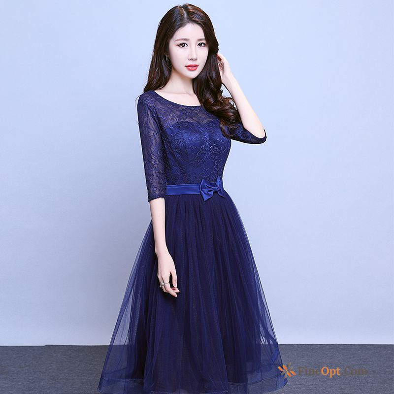 Spring Annual Meeting Presided Over Evening Dress Long Long Sleeves Banquet Snow-white Dress Discount