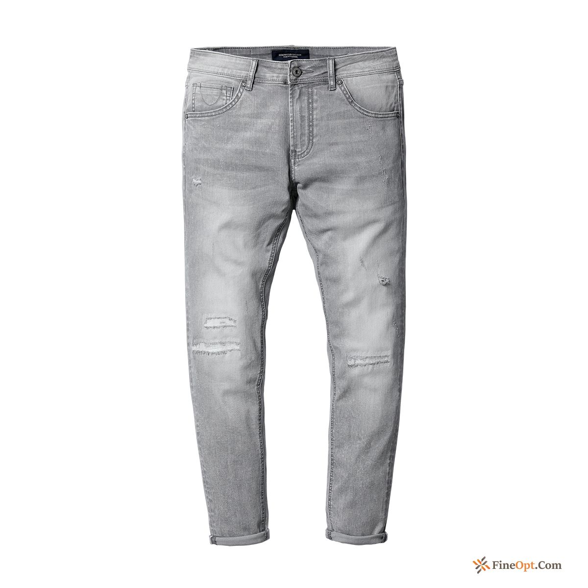Spring Frayed New Jeans Men's Slightly Slim Pansy