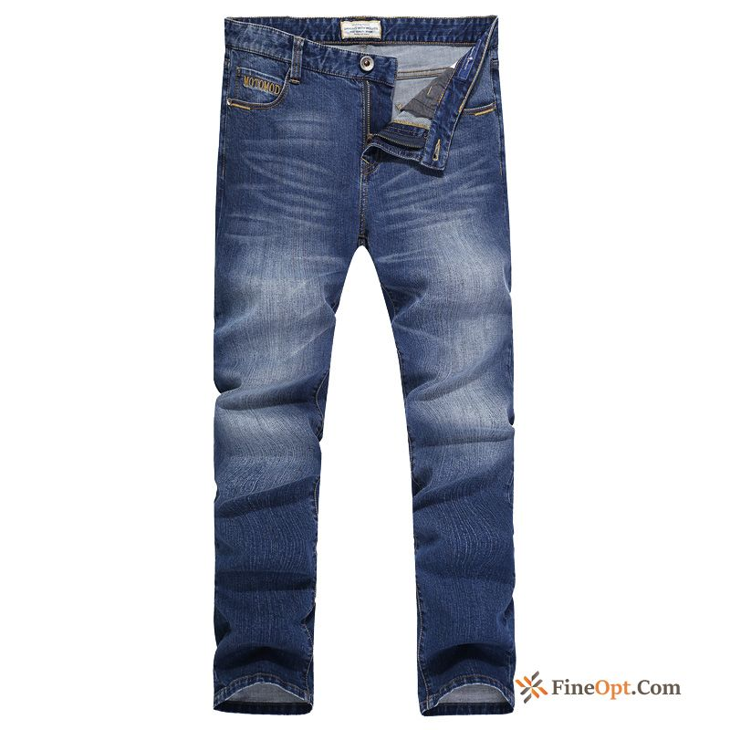 Spring Men's Pure Trousers Slim New Denim Jeans Discount