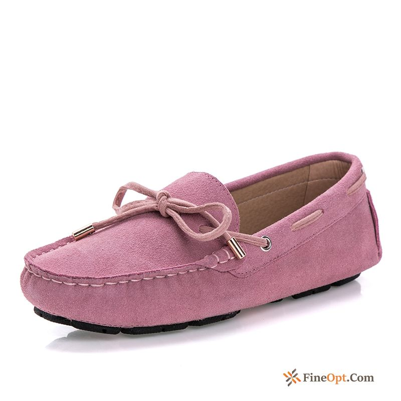 Spring New Flat Genuine Leather Summer Flat Pumps Loafers