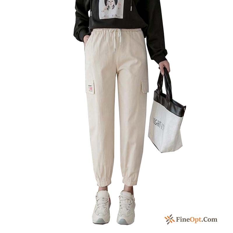 Spring Pants White Thin Handsome Trend Cargo Purple Pants