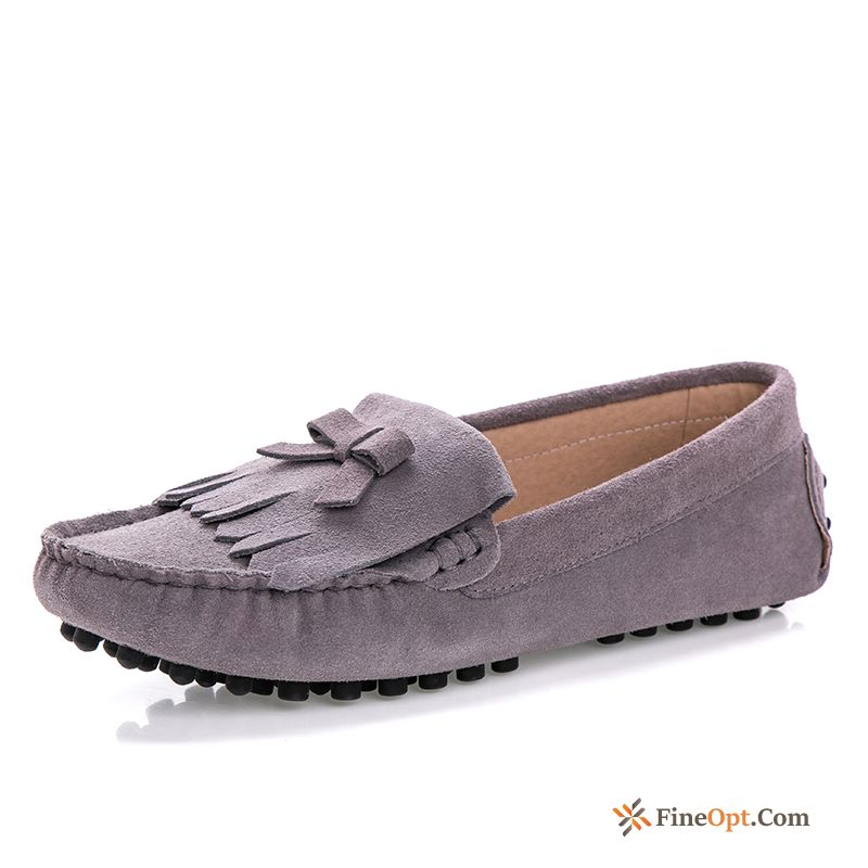 Spring Slip-on All-match Pumps Flat Tassel Casual Rubine Loafers Sale
