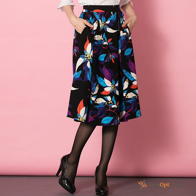 Spring Sweet Printing Short Skirt Long Long Skirt Thin Skirts Sale