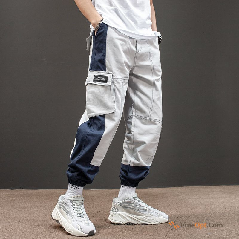 Spring Tight Gray Pants Pants Cargo Men's Cargo Pants