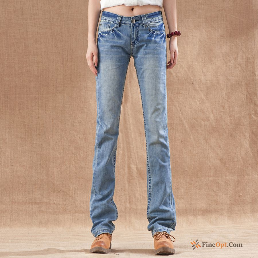 Straight Denim Jeans Loose Original White Thin Breen Discount