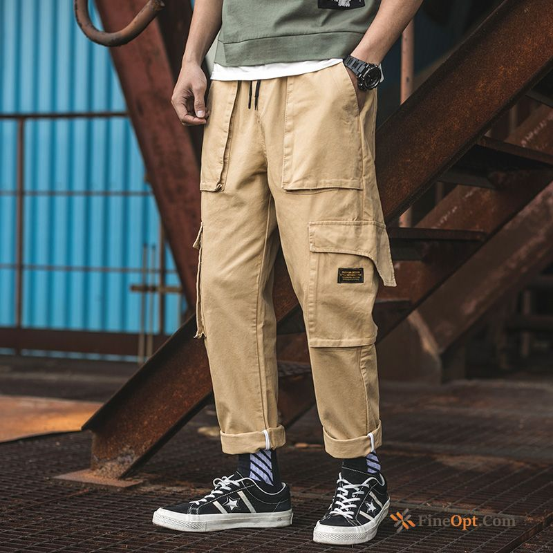Straight Europe Pants Leisure Trend Loose Cargo Cargo Pants