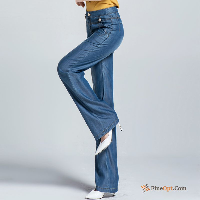 Straight Leisure High Waist Loose Pants Trousers Summer Jeans