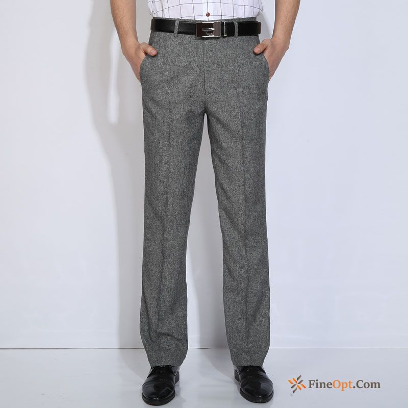 Straight Men's Middle Aged Spring Pants Summer Leisure Garnet Pants For Sale