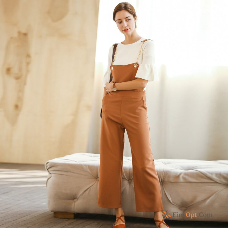 Strap Woven New Summer Straight Pants Trousers Pants