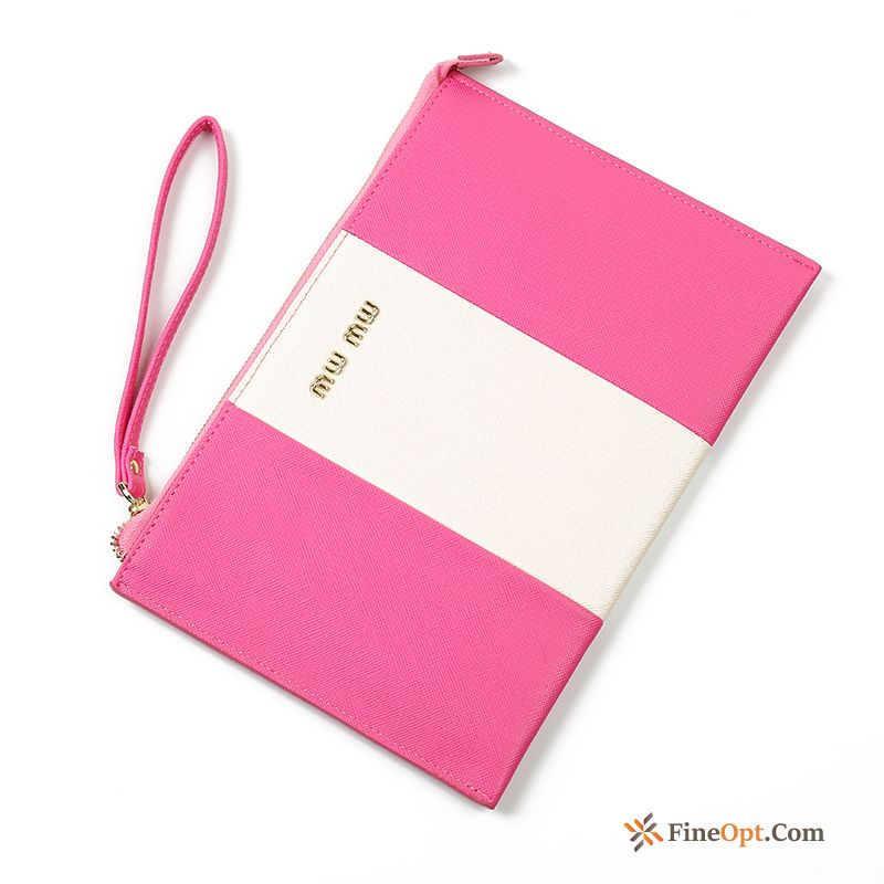 Stripe Women Simple Clutch Bag Wallet Fashion Long Section Wallets Sale