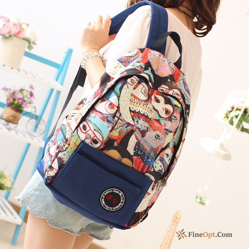 Student Backpack Trend Women Canvas School Bag Campus Backpack Online