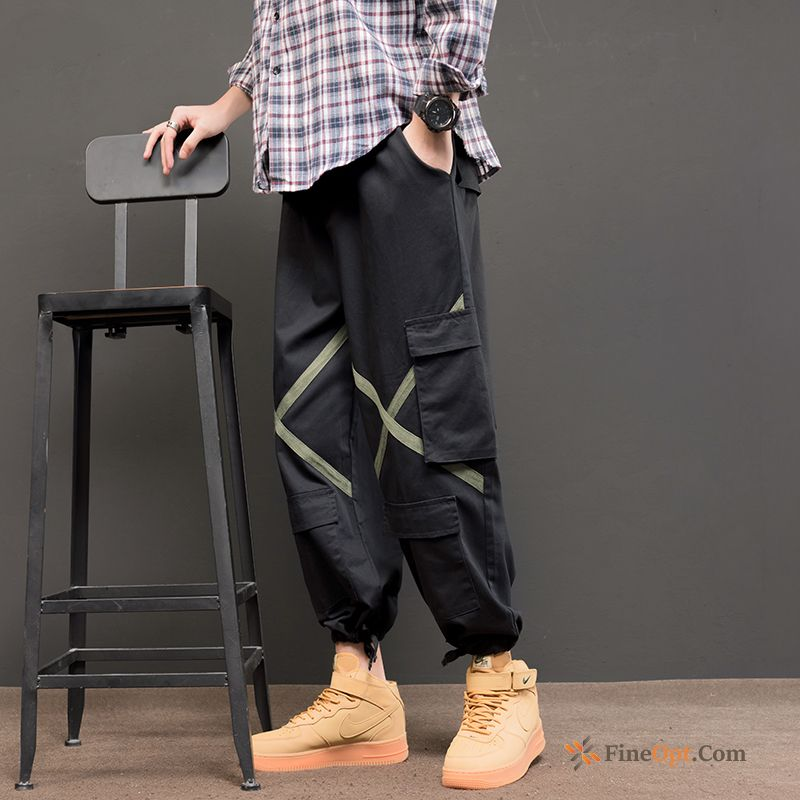 Student Black Cargo Spring Pants Trend Brand Straight Dark Green Cargo Pants Online