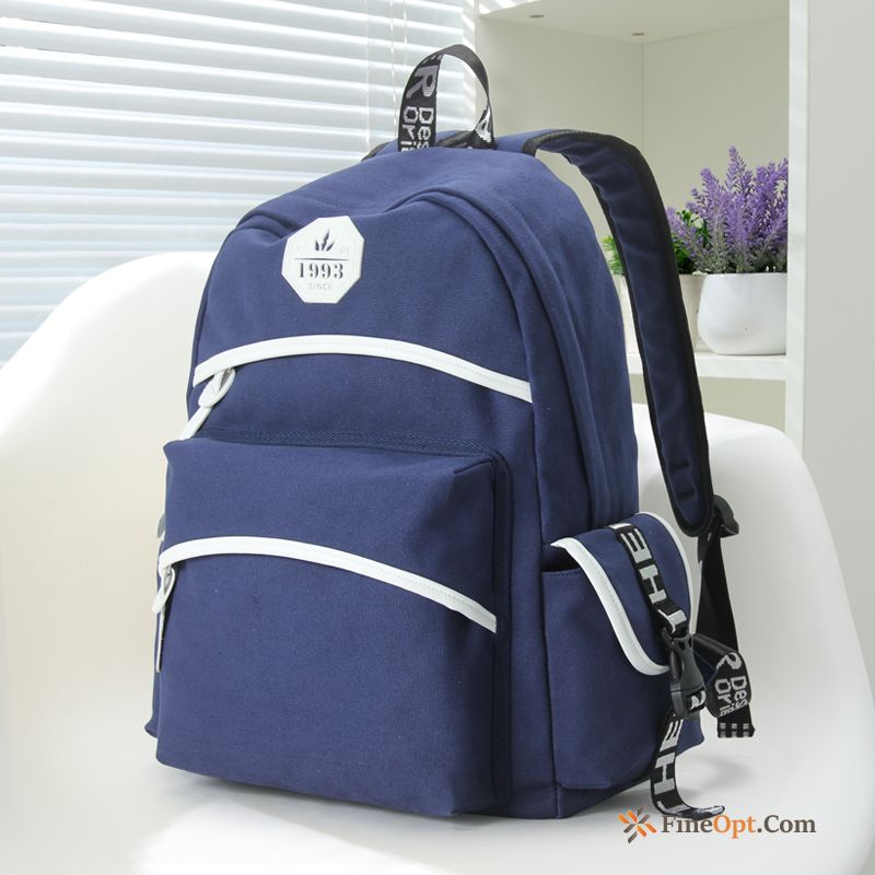 Student Canvas School Bag Travel Leisure Laptop Bag Women Backpack