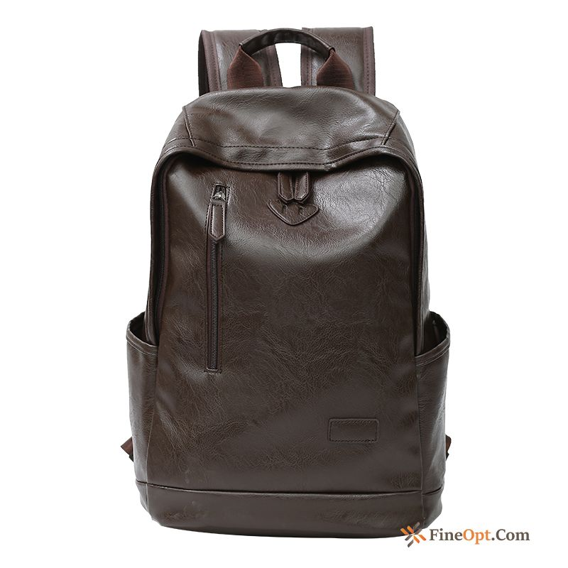 Student Men Backpack Fashion Men's Leisure School Bag Purple Backpack