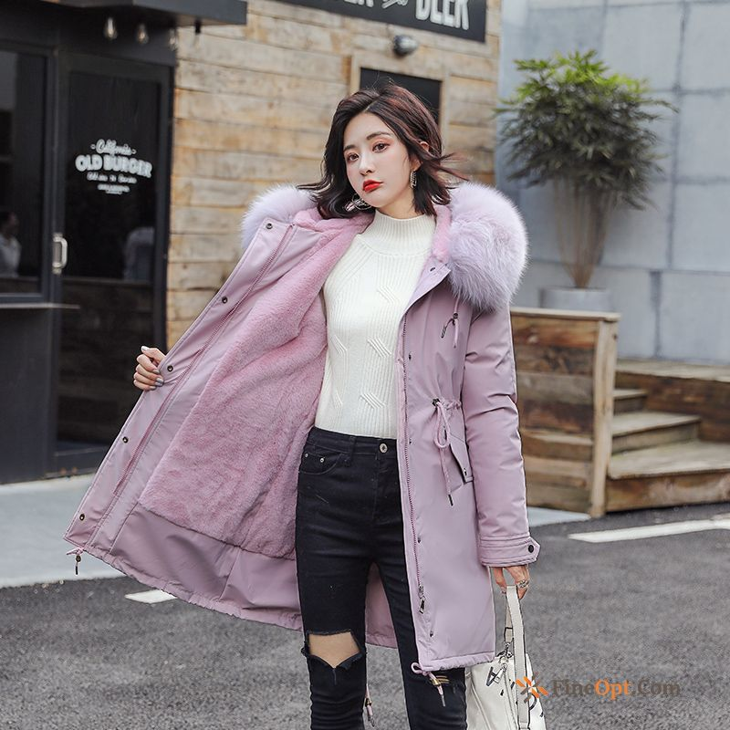 Student Winter Clothes Europe New Long Loose Winter Earth Yellow Cotton Coat