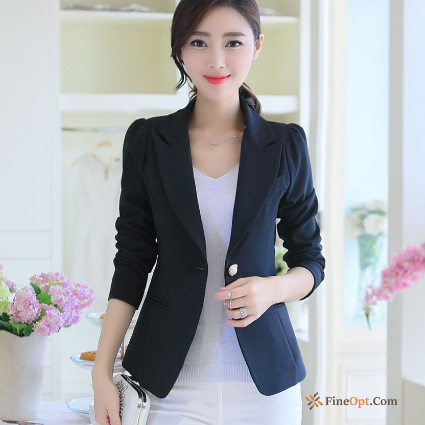 Suit Leisure Coat Long Sleeves Slim Autumn New Blazer