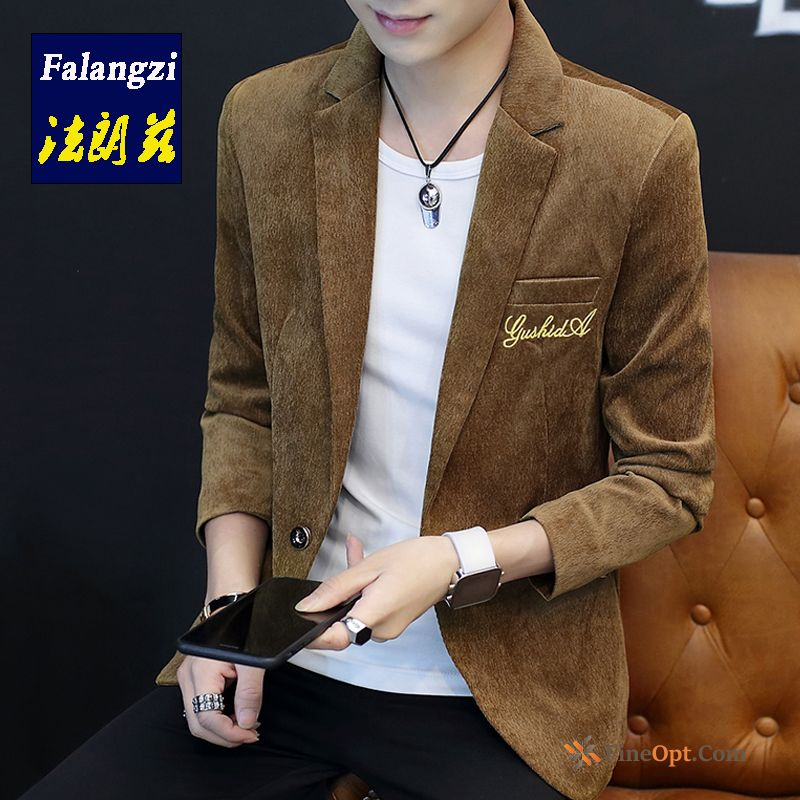 Suit Pure Jacket Coat Leisure Men's Youth Blazer
