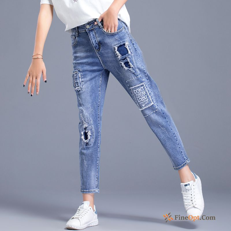 Summer Holes Skinny Loose Pants Harlan Jeans For Sale