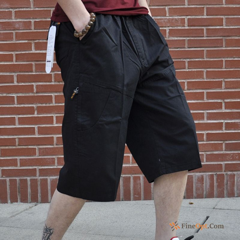 Summer Loose Cropped Trousers Fatty Large Cargo Pants Shorts Sale