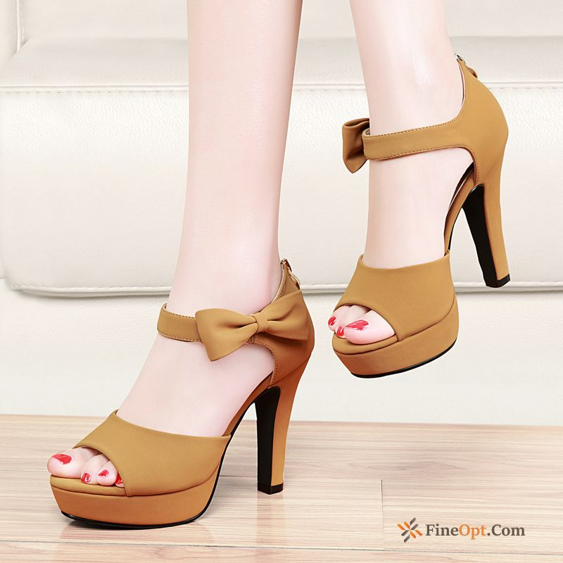 Summer Trend Sexy High Heels Peep-toe Thick Sandals Sandals
