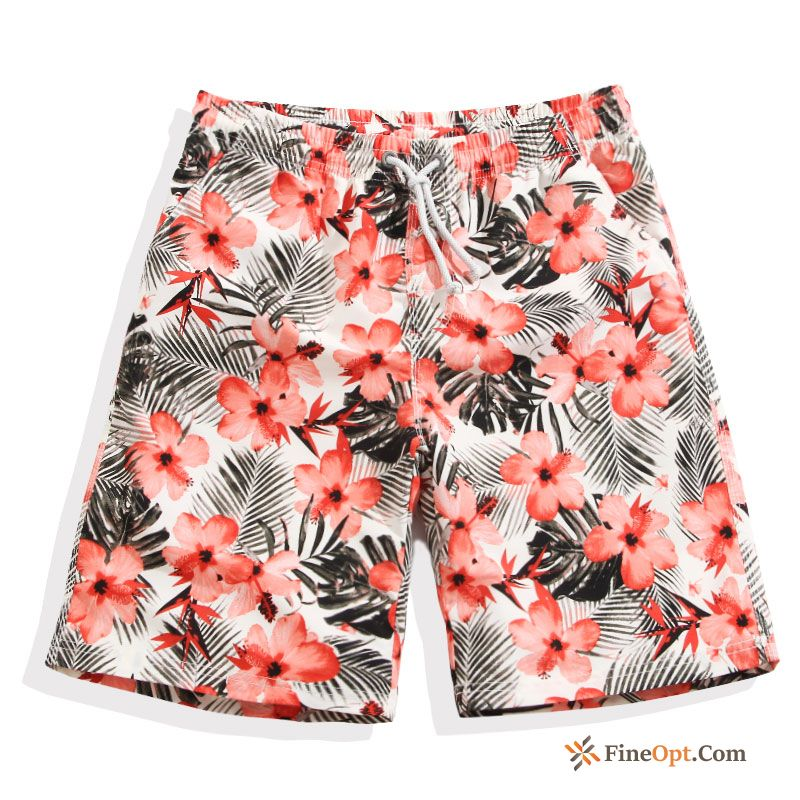Swimming Pants Shorts Quick Dry Lovers Vacation Summer Printing Sale